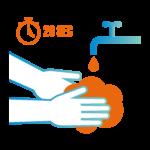 Infos COVID-19 : Lavez-vous les mains plusieurs fois par jour pendant 20 secondes